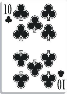 Apprendre la voyance avec jeu 32 cartes : 10 de trèfle