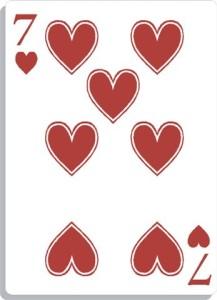 Apprendre la voyance avec jeu 32 cartes : le 7 de coeur