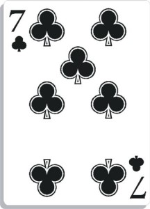 Apprendre la voyance avec jeu 32 cartes : 7 de trèfle