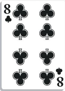 Apprendre la voyance avec jeu 32 cartes : 8 de trèfle