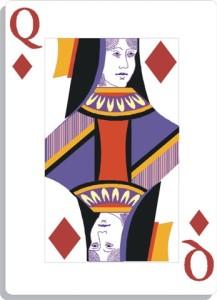 Apprendre la voyance avec jeu 32 cartes : la dame de carreau