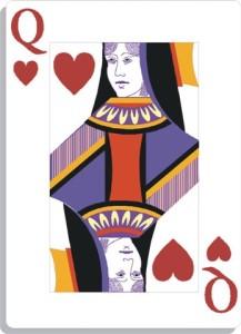 Apprendre la voyance avec jeu 32 cartes : dame de coeur