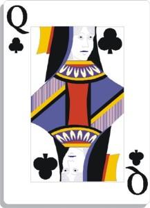 Apprendre la voyance avec jeu 32 cartes : dame de trèfle