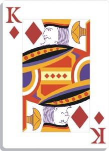 Apprendre la voyance avec jeu 32 cartes : le roi de carreau