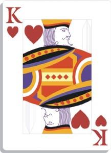Apprendre la voyance avec jeu 32 cartes : roi de coeur