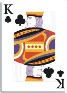 Apprendre la voyance avec jeu 32 cartes : roi de trèfle
